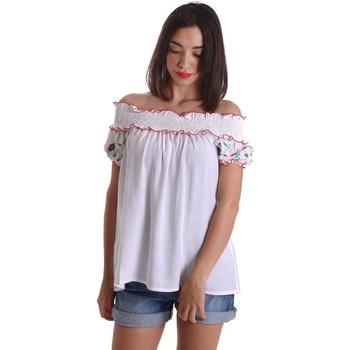 Abbigliamento Donna Top / Blusa Denny Rose 73DR24012 Blusa Donna Bianco Bianco