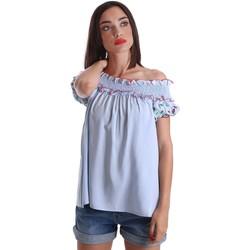 Abbigliamento Donna Top / Blusa Denny Rose 73DR24012 Blusa Donna Celeste Celeste