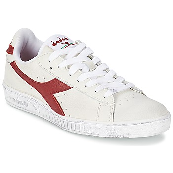 Scarpe Sneakers basse Diadora GAME L LOW WAXED Bianco / Rosso