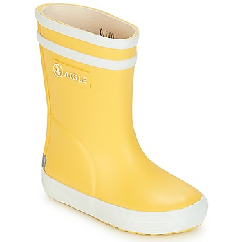 Scarpe Unisex bambino Stivali da pioggia Aigle BABY FLAC Giallo