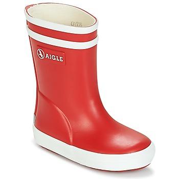 Scarpe Unisex bambino Stivali da pioggia Aigle BABY FLAC Rosso / Bianco