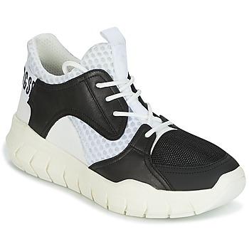 Scarpe Uomo Sneakers basse Bikkembergs FIGHTER 2022 LEATHER Nero   Bianco b34ab5a51fe
