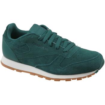 Scarpe Unisex bambino Sneakers basse Reebok Sport CL Leather SG Vert