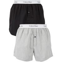 Biancheria Intima  Uomo Boxer Calvin Klein Jeans Boxer in tessuto slim fit con logo in confezione da 2 multicolore