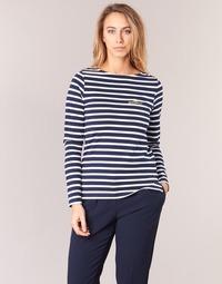 Abbigliamento Donna T-shirts a maniche lunghe Betty London IFLIGEME Marine / Bianco