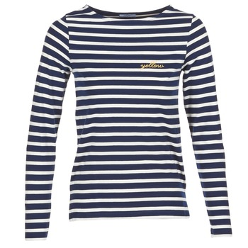 Abbigliamento Donna T-shirts a maniche lunghe Betty London FLIGEME Marine / Bianco