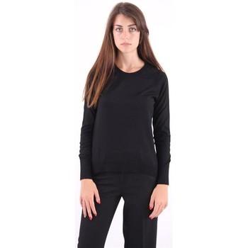 Abbigliamento Donna Maglioni White.7 MAGLIA  GIROCOLLO NERA Black