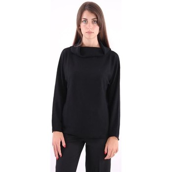 Abbigliamento Donna Maglioni White.7 MAGLIA  NERA COLLO MORBIDO Black