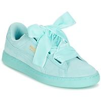 Scarpe Donna Sneakers basse Puma WNS SUEDE HEART RESET.BLUE Blu / Pastello