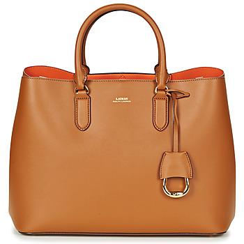 Borse Donna Borse a mano Lauren Ralph Lauren DRYDEN MARCY TOTE Cognac / Arancio