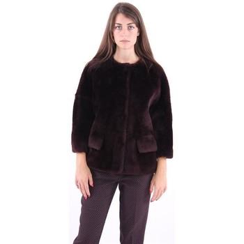 Abbigliamento Donna Giubbotti Desa PELLICCIA CORTA  COLOR VINACCIA Red