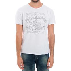 Abbigliamento Uomo T-shirt maniche corte Fred Mello FMCLA99TG_BIANCO Blanco