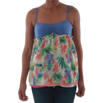 Abbigliamento Donna Top / T-shirt senza maniche Fornarina VIOLAINE_MULTICOLOR Azul