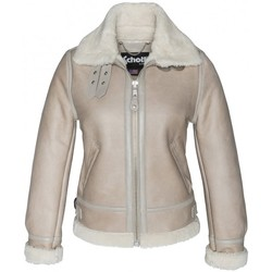 Abbigliamento Donna Giacca in cuoio / simil cuoio Schott BOMBARDIER FEMME    LCW 1257 LIGHT BEIGE Beige