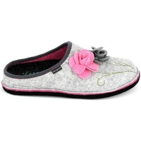 Scarpe Donna Pantofole Fargeot Shannon Gris Rose Grigio