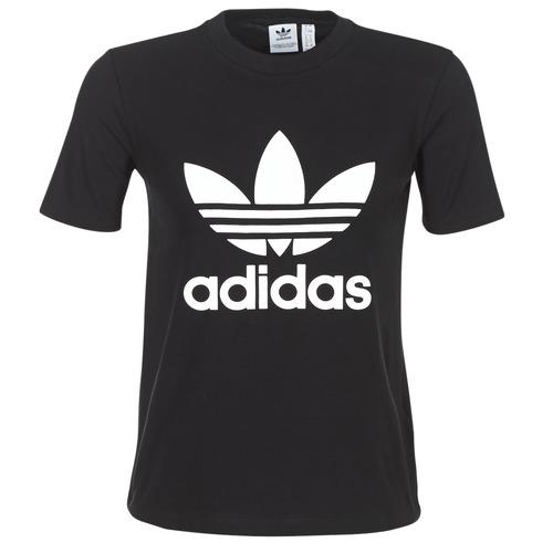 Tee T Trefoil Originals Nero Adidas Corte Maniche shirt XnkPNw80O