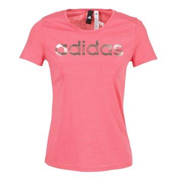 Abbigliamento Donna T-shirt maniche corte adidas Performance FOIL LINEAR Rosa