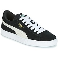 Scarpe Unisex bambino Sneakers basse Puma SUEDE JR Nero / Bianco
