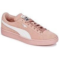 Scarpe Donna Sneakers basse Puma SUEDE CLASSIC W'S Rosa / Bianco