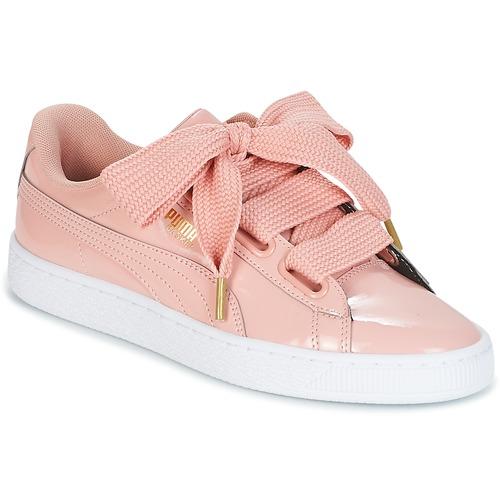 puma basket donna rosa