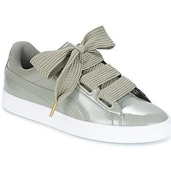 Scarpe Donna Sneakers basse Puma BASKET HEART PATENT W'S Grigio