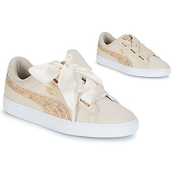 Scarpe Donna Sneakers basse Puma BASKET HEART CANVAS W'S Beige