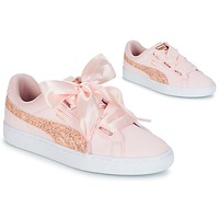 Scarpe Donna Sneakers basse Puma BASKET HEART CANVAS W'S Rosa