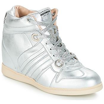 Scarpe Donna Sneakers alte Serafini MANHATTAN Argento