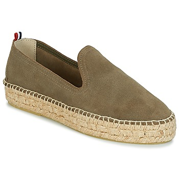 Scarpe Donna Espadrillas 1789 Cala SLIP ON DOUBLE LEATHER Kaki