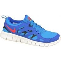 Scarpe Unisex bambino Sneakers basse Nike Free 2 Gs blu