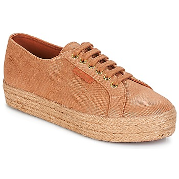 Scarpe Donna Sneakers basse Superga 2730 LAME DEGRADE W Marrone / Rosa / Oro