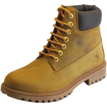 Scarpe Uomo Stivaletti Lumberjack River Yellow Ingrassato Dk Brown scarponcini uomo na Yellow Ingrassato DK Brown