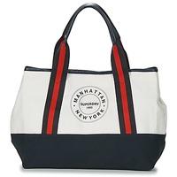 Borse Donna Tote bag / Borsa shopping Superdry BAYSHORE BEACH TOTE Bianco / Marine / Rosso