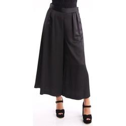 Abbigliamento Donna Chino Altea PANTALONI LARGHI CON PINCES Black