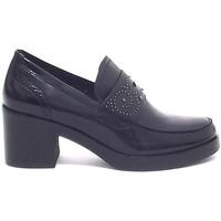 Scarpe Donna Mocassini Barachini scarpa donna, 9052, mocassino pelle nero  A7102