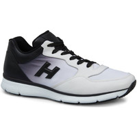 Scarpe Uomo Sneakers basse Hogan Sneaker  in pelle bianca con sfumatura nera bianco