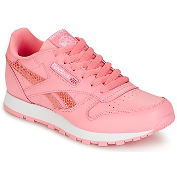 Scarpe Bambina Sneakers basse Reebok Classic CLASSIC LEATHER SPRING Rosa