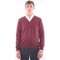Abbigliamento Uomo Maglioni M.marte MAGLIA CON SCOLLO A V BORDEAUX Red