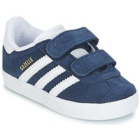 Scarpe Unisex bambino Sneakers basse adidas Originals GAZELLE CF I Marine