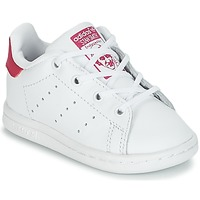 Scarpe Bambina Sneakers basse adidas Originals STAN SMITH I Bianco / Rosa