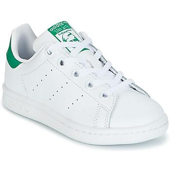 Scarpe Unisex bambino Sneakers basse adidas Originals STAN SMITH C Bianco / Verde