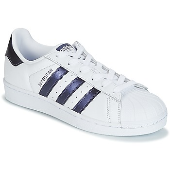 Scarpe Donna Sneakers basse adidas Originals SUPERSTAR W Bianco / Blu