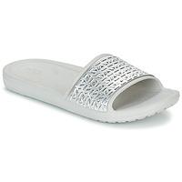 Scarpe Donna ciabatte Crocs SLOANE GRAPHIC ETCHED SLIDE W Bianco / Argento