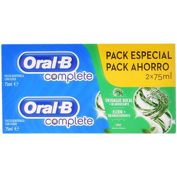 Bellezza Accessori per il viso Oral-B Complete Dentifrico Enjuage + Blanqueante Lote  2 x 75 ml