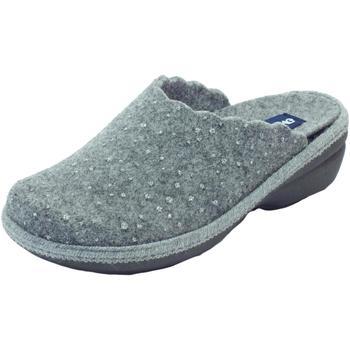 Scarpe Donna Pantofole Melluso Pantofole  per donna in tessuto grigio sottopiede estraibile zep Grigio