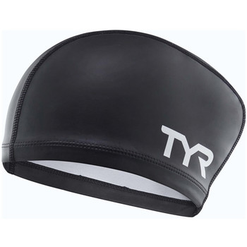 Accessori Accessori sport Tyr Silicone Coated long hair Cap Nero