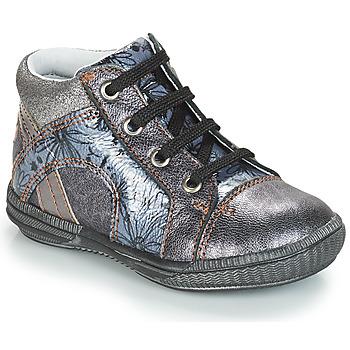 Scarpe Bambina Sneakers alte GBB ROSETTA Argento / Blu