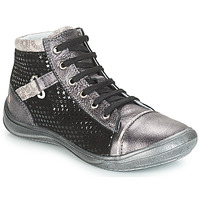 Scarpe Bambina Sneakers alte GBB ROMIE Grigio / Nero