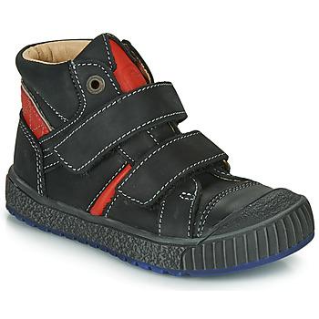Scarpe Bambino Sneakers alte Catimini RAIFORT Nero / Rosso