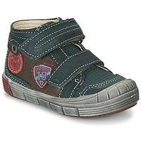 Scarpe Bambino Sneakers alte Catimini ROMARIN Blu / Marrone